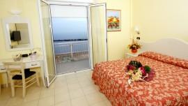 Chambre avec vue sur la mer de l'hôtel Baia de Viserbella de Rimini