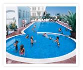 Piscine de l'hôtel Diana de Viserbella de Rimini