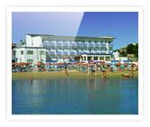 Vue de la mer de l'hôtel Diana de Viserbella de Rimini